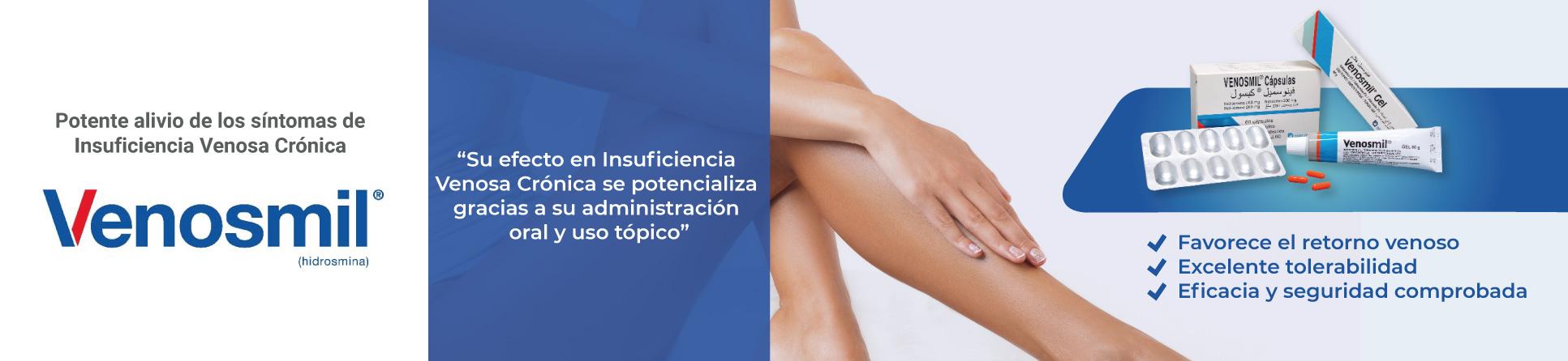 ¿Para qué se utiliza Venosmil?- Venosmil se utiliza para el alivio del hinchazón y de los síntomas de la insuficiencia venosa leve (IV) como son las piernas cansadas, dolor en las piernas, piernas hinchadas y pesadez en las piernas.
